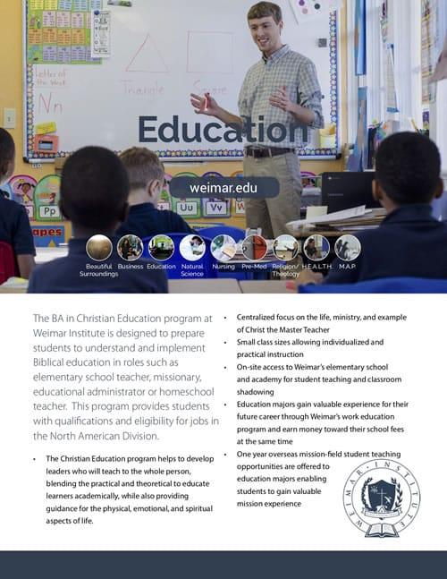 Education – Weimar Institute