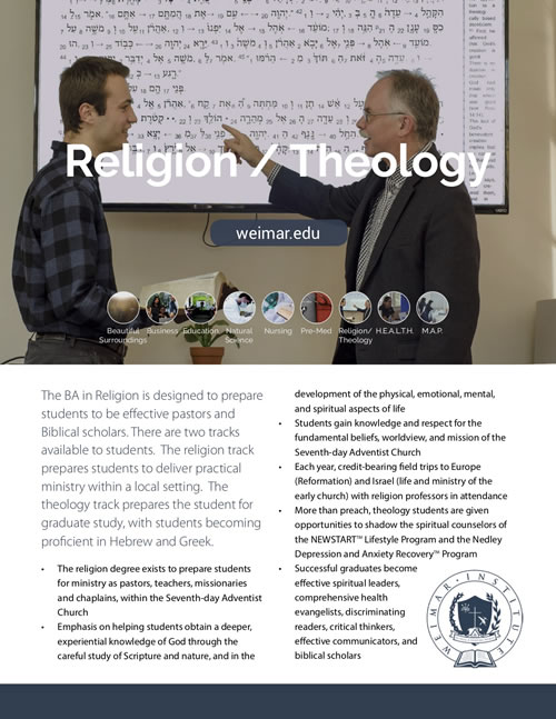 Religion – Weimar Institute